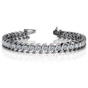 Gorgeous prong set diamond tennis S STYLE bracelet